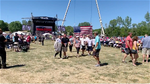[Opinion] Trump fans stream out of Mike Lindell 'MAGA' rally while he talks about Jesus
