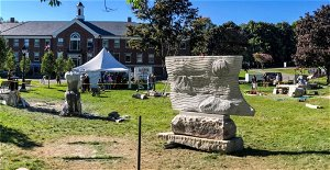 Fundraiser underway to purchase two sculptures from Hallowell Granite Symposium