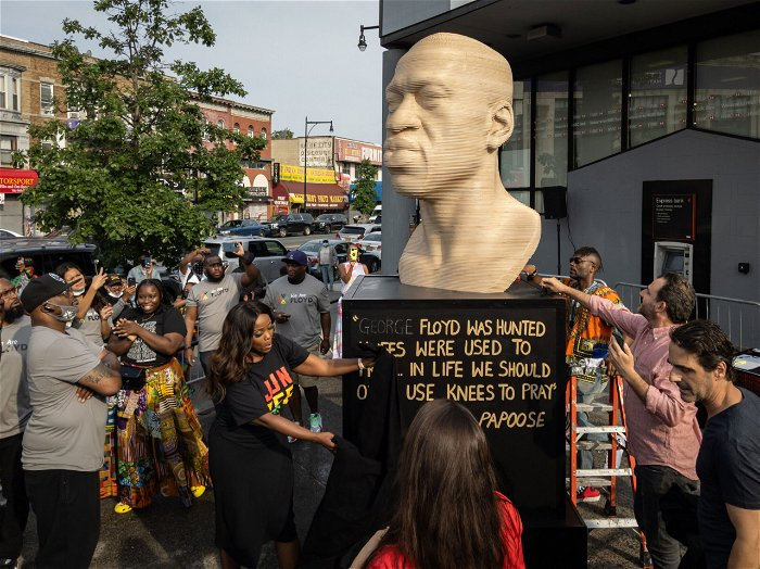 NYC George Floyd statue to be relocated after vandalism