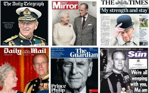 Saturday's national newspaper front pages reflect on the life and legacy of Prince Philip