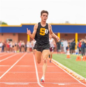 Aidan Bergin wins double gold as Madison boys track places second at Group 2