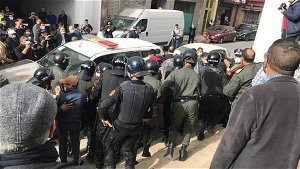 Moroccan security forces suppress pro-Palestinian protest in Rabat