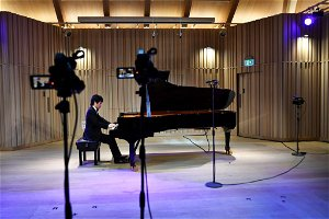 Pianists compete for prestigious prize with just a camera operator to listen
