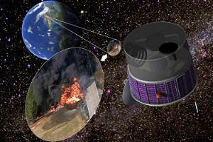 This flying fire sensor could help track wildfires from a satellite in space