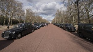 Black taxis line the length of Pall Mall to honour Prince Philip