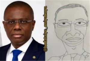 Sanwo-Olu receives 'remarkable' photo of him by artist