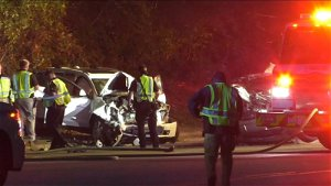 One killed, two seriously injured after Fayetteville crash, car fire
