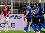 Zlatan Ibrahimovic sent off as Christian Eriksen earns Inter Milan last-gasp Coppa win over AC Milan