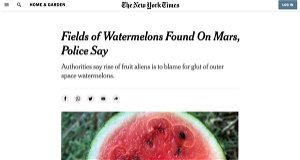New York Times Publishes Then Deletes Article Claiming Watermelons Were Found on Mars