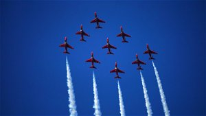 Red arrows fly over Carbis Bay for G7 summit