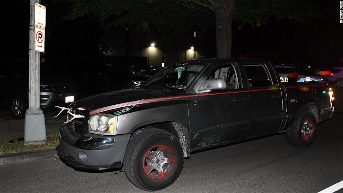 Capitol police arrest man with machete, bayonet in car painted with swastika near DNC HQ