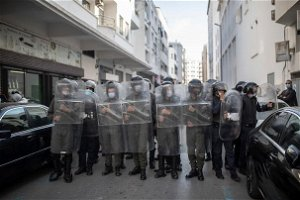 Moroccans protest mass vaccination rules; some skirmishes