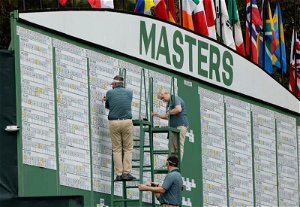 Weather suspends third-round play at Masters