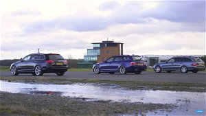 Watch Audi, BMW, And Mercedes Wagons Take On Each Other In A Drag Race @ Top Speed