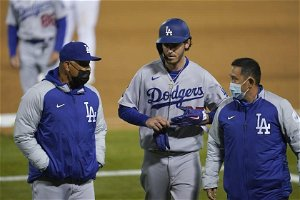 Dodgers put Cody Bellinger on injured list with calf contusion