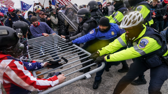 US police three times as likely to use force against leftwing protesters, data finds