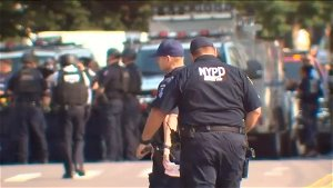 NYPD officer injured in domestic incident, husband in custody after allegedly firing at police