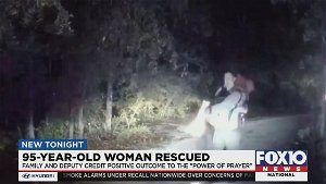 Deputy had just finished singing to God moments before hearing elderly woman lost in woods shouting for help