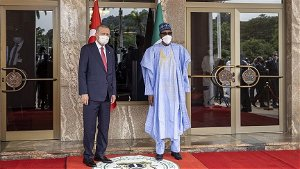 Turkish president welcomed in Nigeria with official ceremony