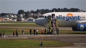 Allegiant Airplane Blows Out Tire After Rough Landing At Logan