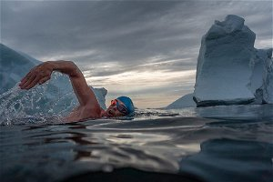 Swimming in Greenland to highlight climate change