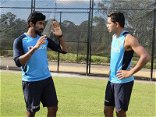 AUS Vs IND: Jasprit Bumrah Guides Young Pacer Kartik Tyagi In Sydney. See Pictures