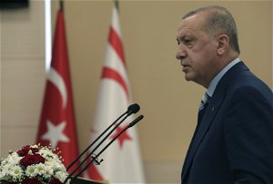 Cyprus talks can resume only on two-state basis, Erdogan says