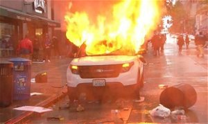 Man who set SPD car on fire, stole police rifle during May 2020 protest sentenced