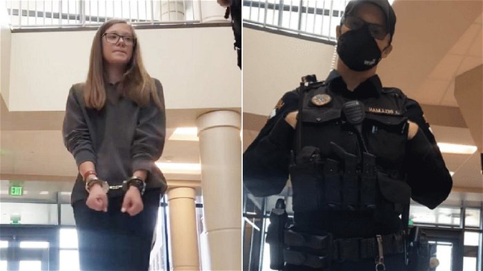 Grace Smith: Wyoming school student, 16, arrested for refusing to wear mask in school