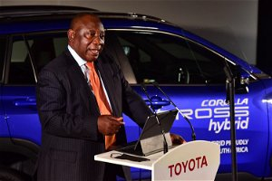 Ramaphosa says Toyota hybrid vehicle launch is fitting as SA gears up for COP26 climate change conference