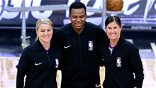 Two female referees officiate NBA game for first time