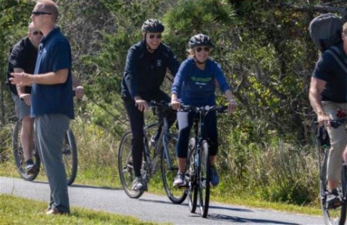 Biden goes for bike ride at the beach amid national crises, refuses to answer questions