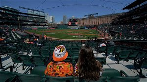 Fans thrilled to cheer on Orioles despite smaller crowd