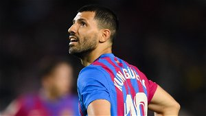 Aguero refused to take Messi's No.10 shirt and says it 'looks good' on Barcelona team-mate Ansu Fati