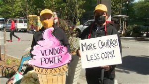 Hudson Yards street vendors rally, claim they are being harassed by NYPD