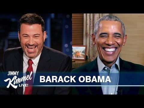 Obama surprises speechless fan with live book reading on Kimmel