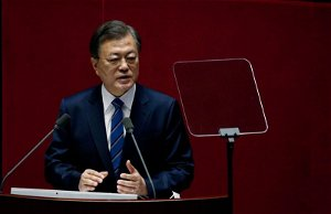 'My romance, your adultery': South Koreans' sarcasm over hypocrisy follows Moon into final year