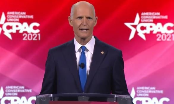 How Rick Scott Is Trying to Bridge the Trump-McConnell Divide