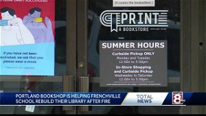 Northern Maine school library burns, bookstores raise funds