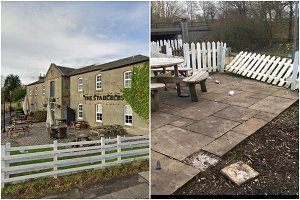 Scots pub slams 'mindless thugs' after beer garden destroyed and 'fires lit'