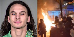 Antifa rioter convicted of felony arson for throwing IED at officer, setting Portland police building on fire
