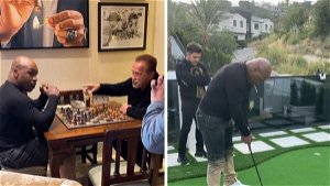 Mike Tyson Golfs & Smokes Weed at Schwarzenegger's Mansion, UFC's Cejudo Flexes!