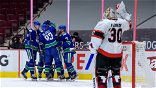 Brandon Sutter records hat trick, Canucks rout Senators 7