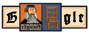Today's Google Doodle Celebrates Printing Press Innovator Johannes Gutenberg