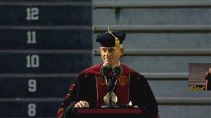 "USC president promises grads push-ups after saying ""University of California"" at graduation"