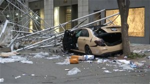NYPD: Driver With Suspended License Crashes Into Midtown Scaffolding