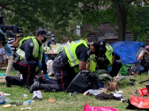 Toronto police arrest man in connection with Lamport Stadium protests