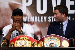 Mayor of London tells Eddie Hearn 'we're ready' to host AJ vs Fury at Wembley
