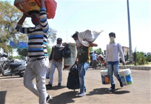 Fearing another lockdown, migrants head home