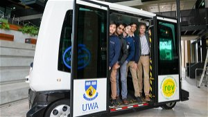 UWA sets benchmark with student-designed driverless bus